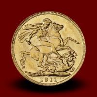 7,98 g, Gold coin / 1 Pfd Georg V