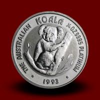 7,815 g, Australian Koala Platinum Coin - 1988,1990,1992,1993