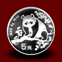 15,57 g, Srebrni Kitajski panda (1993)