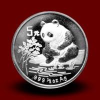 15,57 g, Srebrni Kitajski panda (1996)