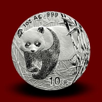 31,13 g, Srebrni Kitajski panda (2002)