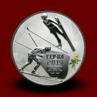 33,70 g, Olympic games Sochi Silver - Nordic combined (series III - 2013)