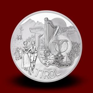 17,30 g, Tirolska (2014), serija Avstrijske zvezne dežele - PROOF