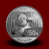 155,65 g, Srebrni Kitajski panda 2014