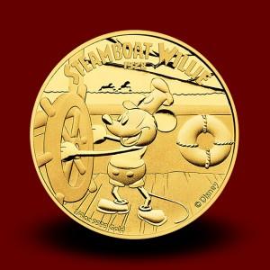 7,777 g, Zlati Disney - Miki Miška Steamboat Willie