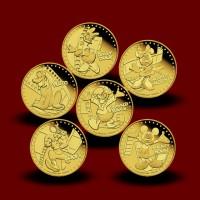 Zbirka zlatih kovancev Disney Mickey & Friends