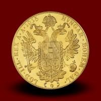 13,9636 g, Zlati dukat - štirikratni / 4 Ducat Gold Coin