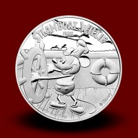 31,135 g, Srebrni Disney - Miki Miška Steamboat Willie