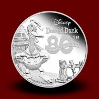 31,135 g, Srebrni Disney - Jaka Racman 80th Anniversary of Donald Duck