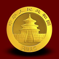 1,5556 g, China Panda Gold Coin: NEW 2014