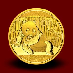 7,7783 g, China Panda Gold Coin: NEW 2014