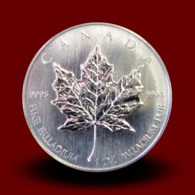 31,1035 g, Paladijev Kanadski javorjev list / Canadian Maple Leaf Palladium Coin **