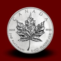 31,15 g, Platinasti Kanadski javorjev list / Canadian Maple Leaf Platinum Coin