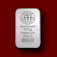 100 g, Palica iz platine / Platinum Bar