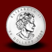 31,15 g, Platinasti Kanadski javorjev list / Canadian Maple Leaf Platinum Coin