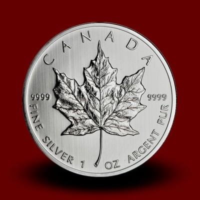 31,1035 g, Srebrni Kanadski javorjev list / Canadian Maple Leaf Silver Coin