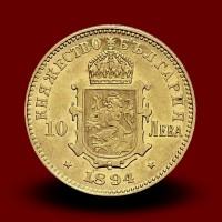 3,22 g, Zlati 10 Leva, Ferdinand I. (1894)