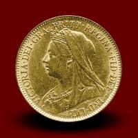 3,98 g, Zlati 1/2 Pfd Victoria (1900)