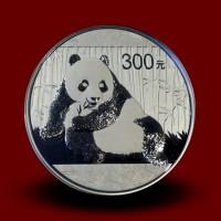1000 g, Srebrni Kitajski panda - 2015