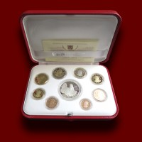 Euro Coins Set with Silver Coin 2015