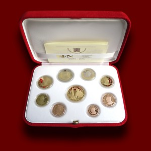 Euro Coins Set with Gold Coin 2015