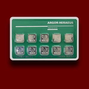 10 x 1 g, Platinum Bar - Multicard