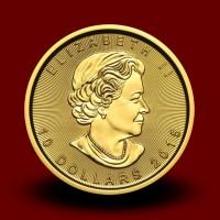 7,797 g, Zlati Kanadski javorjev list