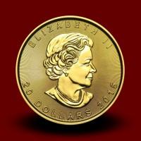 15,584 g, Zlati Kanadski javorjev list