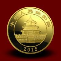 155,65 g, China Panda Gold Coin (2015)