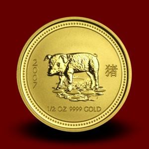 15,594 g, Australian Lunar Gold Coin - pig (2007)