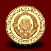 7,82 g, Zlati AVNOJ 100 DIN (1968)
