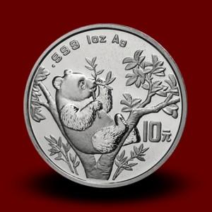 31,13 g, Srebrni Kitajski panda (1995)