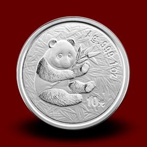 31,13 g, Srebrni Kitajski panda (2000)