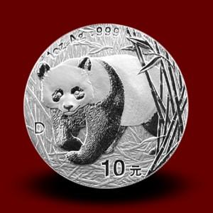 31,13 g, China Panda Silver Coin (2001 D)