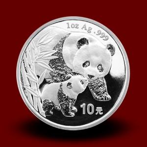 31,13 g, Srebrni Kitajski panda (2004)