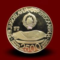 14,70 g, Zlati kovanec 2500 DIN Mediteranske igre (1979)