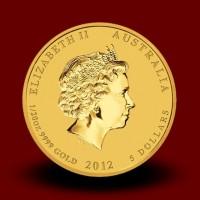 1,5710 g, Zlati lunin koledar - zmaj 2012 / Australian Lunar Gold Coin