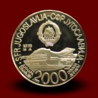 11,80 g, Zlati kovanec 2000 DIN Mediteranske igre (1979)