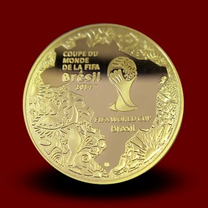 8,45 g, 50 € Gold coin, FIFA World Cup Brasil 2014