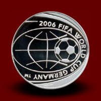 18 g, 5 € Silver coin FIFA World Cup 2006