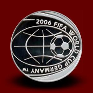 18 g, 5 € Silver coin FIFA World Cup 2006
