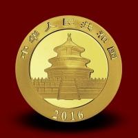 3 g,  China Panda Gold Coin - 2016