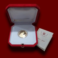 15 g, Pontificate of Pope Francis Gold Coin - Shrine of the Virgin of the Rosary of Pompei