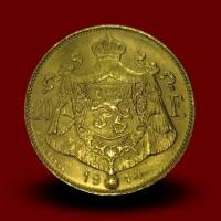 6,45 g zlatnik 20 BFR-Albert, 1914