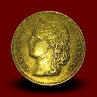 6,46 g,zlatnik 20 CHF, Helvetica (1896)