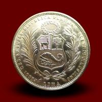 23,4 g zlatnik 50 soles, 1967