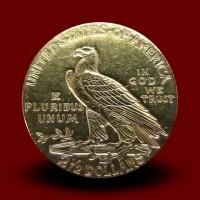 4,17 g zlatnik 2,5 USD, Indian Head