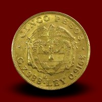 7,9 g zlatnik, 5 PESOS, 1924