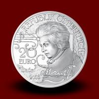 20 g, Srebrnik Mozart The Legend 2016, serija WAM, življenje v treh dejanjih