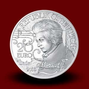 20 g, Mozart The Legend Silver Coin 2016